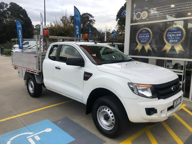 Used Ford Ranger PX XL Hi-Rider Berwick, 2014 Ford Ranger PX XL Hi-Rider White 6 Speed Sports Automatic Cab Chassis