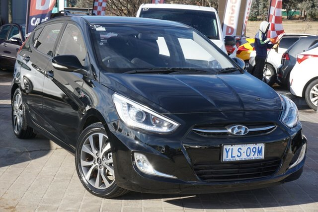 Used Hyundai Accent RB3 MY16 SR Phillip, 2016 Hyundai Accent RB3 MY16 SR Black 6 Speed Sports Automatic Hatchback