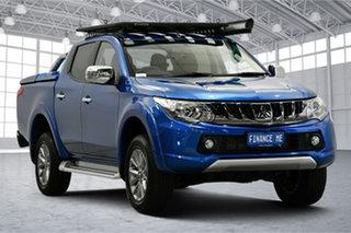 2018 Mitsubishi Triton MQ MY18 GLS Double Cab Blue 5 Speed Sports Automatic Utility.