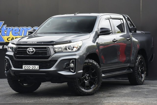 Used Toyota Hilux GUN126R Rogue Double Cab Campbelltown, 2018 Toyota Hilux GUN126R Rogue Double Cab Grey 6 Speed Sports Automatic Utility