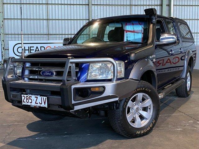 Used Ford Ranger PJ XL Crew Cab Rocklea, 2007 Ford Ranger PJ XL Crew Cab Blue 5 Speed Automatic Utility