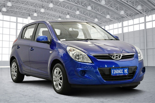 Used Hyundai i20 PB MY11 Active Victoria Park, 2011 Hyundai i20 PB MY11 Active Blue 5 Speed Manual Hatchback