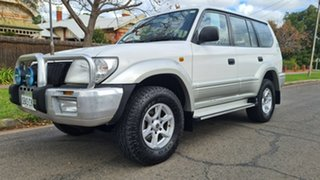 2002 Toyota Landcruiser Prado KZJ95R GXL (4x4) White 4 Speed Automatic 4x4 Wagon.