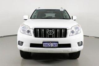 2012 Toyota Landcruiser Prado GRJ150R 11 Upgrade GXL (4x4) White 5 Speed Sequential Auto Wagon.