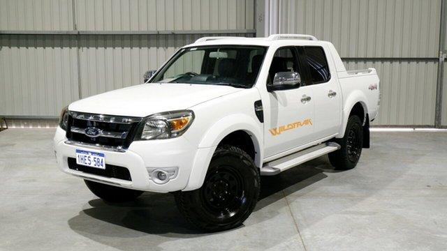Used Ford Ranger PK Wildtrak Crew Cab Maddington, 2011 Ford Ranger PK Wildtrak Crew Cab White 5 Speed Automatic Utility