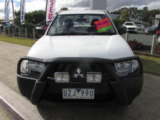 2007 Mitsubishi Triton ML MY08 GLX (4x4) White 5 Speed Manual 4x4 Cab Chassis.