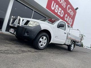 2008 Nissan Navara D40 RX White 6 Speed Manual Cab Chassis.