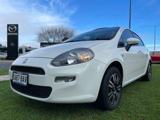 2013 Fiat Punto MY13 Easy Dualogic White 5 Speed Sports Automatic Single Clutch Hatchback.