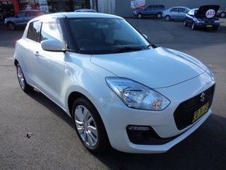 2018 Suzuki Swift AL GL Navigator (safety) Cool White Pearl Continuous Variable Hatchback.
