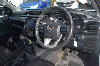 2017 Toyota Hilux GUN126R SR Double Cab White 6 Speed Manual Cab Chassis