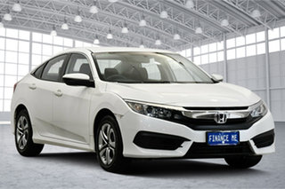 2016 Honda Civic 10th Gen MY16 VTi White 1 Speed Constant Variable Sedan.
