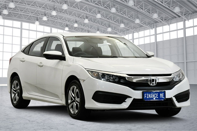 Used Honda Civic 10th Gen MY16 VTi Victoria Park, 2016 Honda Civic 10th Gen MY16 VTi White 1 Speed Constant Variable Sedan