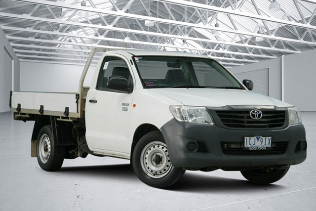Used Toyota Hilux TGN16R MY12 Workmate Altona North, 2014 Toyota Hilux TGN16R MY12 Workmate White 4 Speed Automatic Cab Chassis