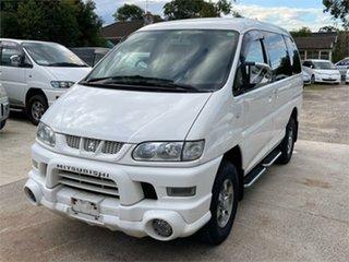 2005 Mitsubishi Delica PD6W Spacegear Chamonix White Automatic Van Wagon.