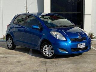 2010 Toyota Yaris NCP90R MY10 YR Blue 4 Speed Automatic Hatchback.