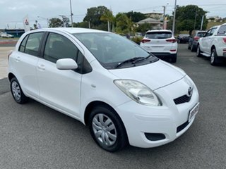 2011 Toyota Yaris NCP90R MY11 YR White 4 Speed Automatic Hatchback.