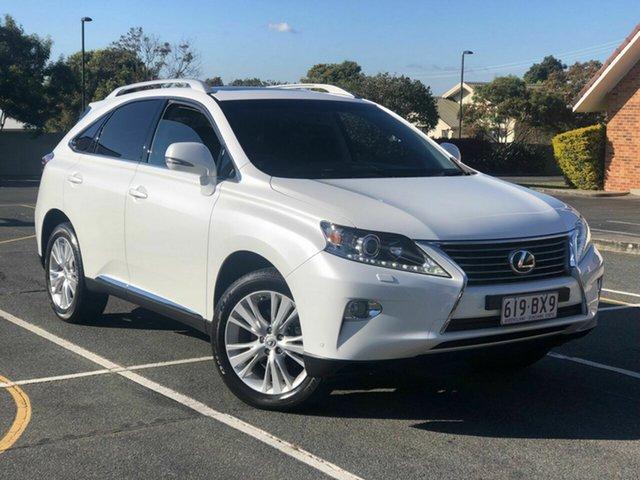 Used Lexus RX GGL15R MY12 RX350 Luxury Chermside, 2012 Lexus RX GGL15R MY12 RX350 Luxury White 6 Speed Sports Automatic Wagon