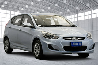 2011 Hyundai Accent RB Active Clean Blue 4 Speed Sports Automatic Hatchback.