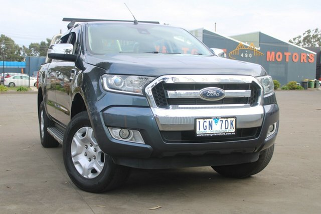 Used Ford Ranger PX XLT 3.2 Hi-Rider (4x2) West Footscray, 2015 Ford Ranger PX XLT 3.2 Hi-Rider (4x2) Grey 6 Speed Manual Crew Cab Pickup
