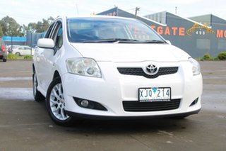 2009 Toyota Corolla ZRE152R MY09 Edge White 4 Speed Automatic Hatchback.