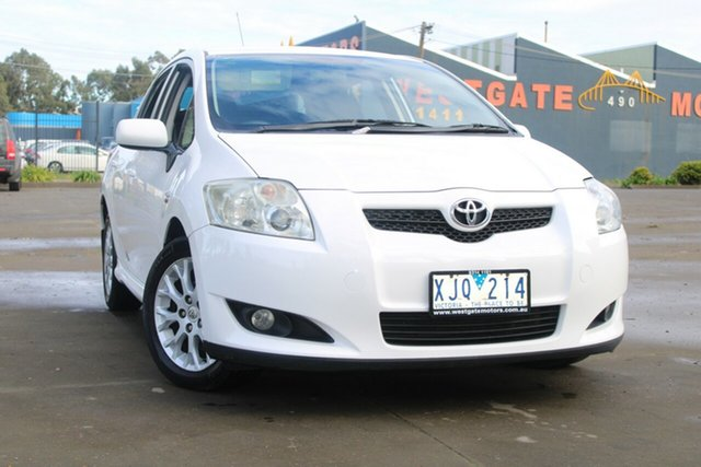 Used Toyota Corolla ZRE152R MY09 Edge West Footscray, 2009 Toyota Corolla ZRE152R MY09 Edge White 4 Speed Automatic Hatchback
