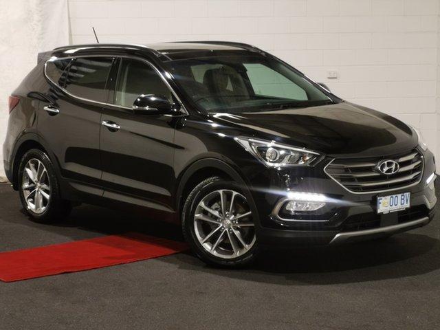 Used Hyundai Santa Fe DM3 MY17 Highlander Glenorchy, 2016 Hyundai Santa Fe DM3 MY17 Highlander Black 6 Speed Sports Automatic Wagon