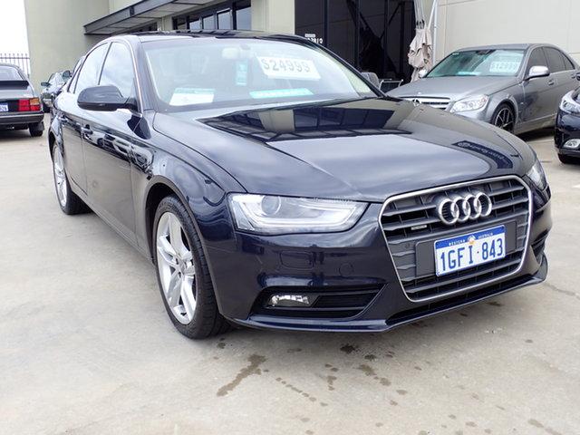Used Audi A4 B8 (8K) MY14 2.0 TFSI Quattro Wangara, 2013 Audi A4 B8 (8K) MY14 2.0 TFSI Quattro Blue 7 Speed Auto Direct Shift Sedan