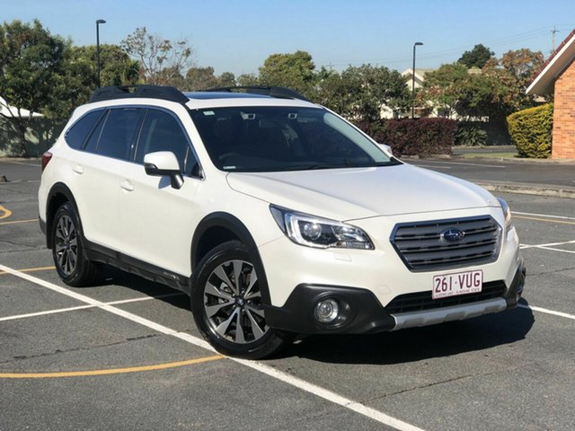 Used Subaru Outback B6A MY15 2.5i CVT AWD Premium Chermside, 2015 Subaru Outback B6A MY15 2.5i CVT AWD Premium White 6 Speed Constant Variable Wagon
