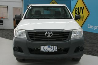 2014 Toyota Hilux TGN16R MY12 Workmate White 4 Speed Automatic Cab Chassis