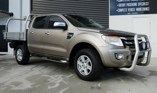 Used Ford Ranger PX XLT Double Cab Capalaba, 2013 Ford Ranger PX XLT Double Cab Gold 6 Speed Sports Automatic Utility