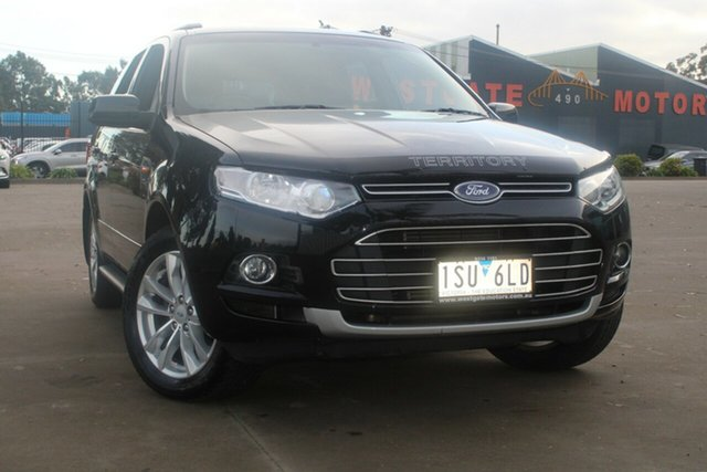 Used Ford Territory SZ TS (RWD) West Footscray, 2012 Ford Territory SZ TS (RWD) Black 6 Speed Automatic Wagon