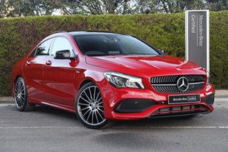 2017 Mercedes-Benz CLA-Class C117 807MY CLA250 DCT 4MATIC Sport Jupiter Red 7 Speed.