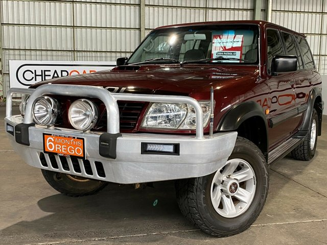 Used Nissan Patrol GU III MY2003 ST Rocklea, 2004 Nissan Patrol GU III MY2003 ST Maroon 4 Speed Automatic Wagon