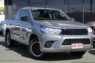 2016 Toyota Hilux GUN123R SR Extra Cab 4x2 Silver 5 Speed Manual Utility.