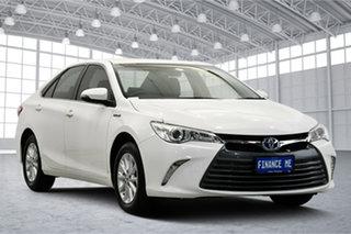 2015 Toyota Camry AVV50R Altise White 1 Speed Constant Variable Sedan Hybrid.
