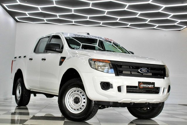 Used Ford Ranger PX XL 2.2 Hi-Rider (4x2) Burleigh Heads, 2015 Ford Ranger PX XL 2.2 Hi-Rider (4x2) White 6 Speed Automatic Crew Cab Pickup