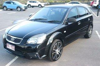 2010 Kia Rio JB MY10 S Midnight Black 4 Speed Automatic Hatchback.