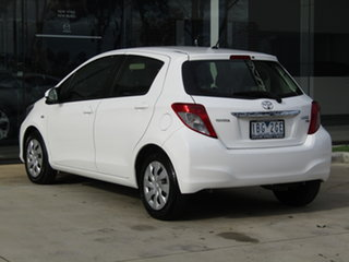 2013 Toyota Yaris NCP131R YRS White 4 Speed Automatic Hatchback