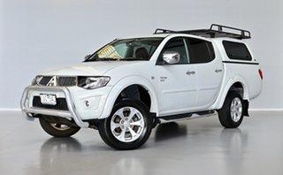 2012 Mitsubishi Triton MN MY12 GLX-R Double Cab White 5 Speed Sports Automatic Utility.