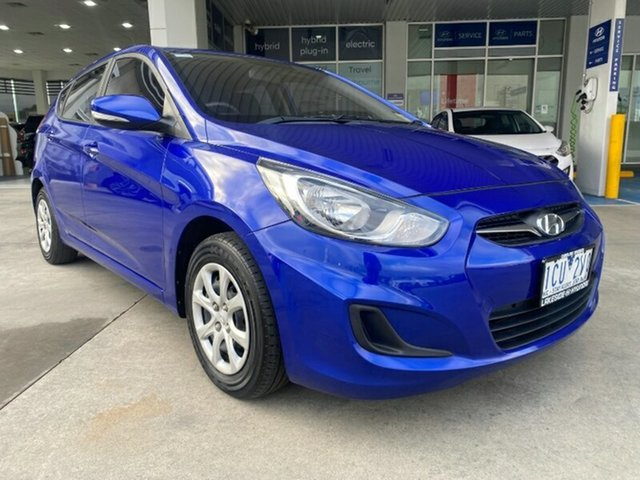 Used Hyundai Accent RB2 MY15 Active Ravenhall, 2014 Hyundai Accent RB2 MY15 Active Blue 4 Speed Sports Automatic Hatchback