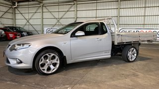 2010 Ford Falcon FG XR6 Super Cab Silver 5 Speed Sports Automatic Cab Chassis.