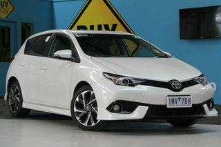 2017 Toyota Corolla ZRE182R MY15 SX White 7 Speed CVT Auto Sequential Hatchback.