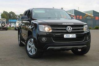 2012 Volkswagen Amarok 2H MY12.5 TDI400 Ultimate (4x4) Black 6 Speed Manual Dual Cab Utility.