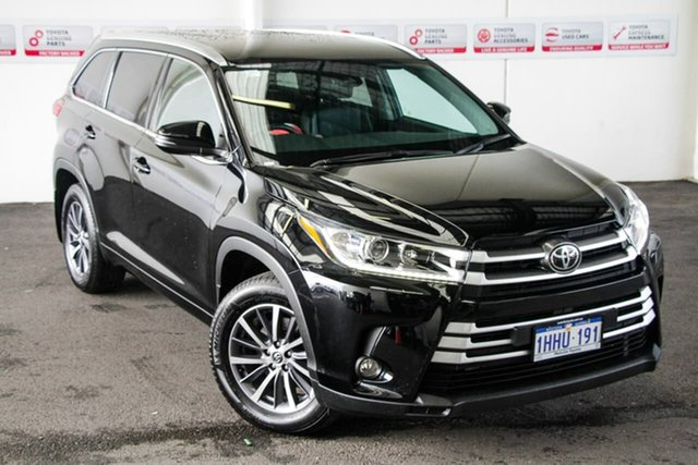 Pre-Owned Toyota Kluger GSU55R GXL AWD Myaree, 2019 Toyota Kluger GSU55R GXL AWD Eclipse Black 8 Speed Sports Automatic Wagon