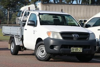2006 Toyota Hilux TGN16R MY05 Workmate 4x2 White 5 Speed Manual Cab Chassis.