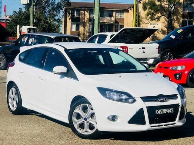 Used Ford Focus LW MkII Sport PwrShift Liverpool, 2014 Ford Focus LW MkII Sport PwrShift White 6 Speed Sports Automatic Dual Clutch Hatchback
