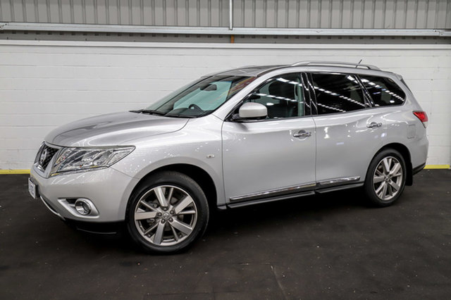 Used Nissan Pathfinder R52 MY15 Ti X-tronic 4WD Canning Vale, 2016 Nissan Pathfinder R52 MY15 Ti X-tronic 4WD Silver 1 Speed Constant Variable Wagon