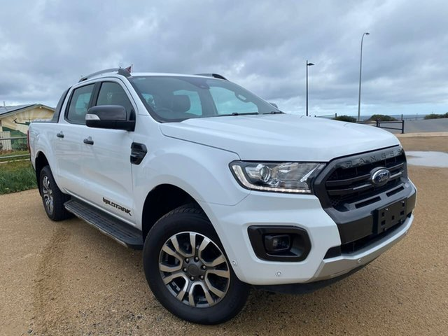Used Ford Ranger PX MkIII 2019.00MY Wildtrak Christies Beach, 2018 Ford Ranger PX MkIII 2019.00MY Wildtrak White 10 Speed Sports Automatic Utility