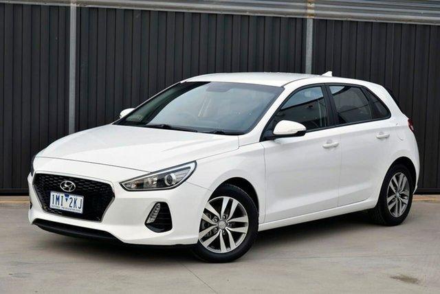Used Hyundai i30 PD MY18 Active Pakenham, 2017 Hyundai i30 PD MY18 Active White 6 Speed Sports Automatic Hatchback