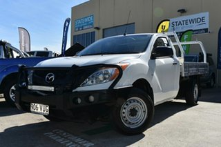 2015 Mazda BT-50 MY16 XT (4x2) White 6 Speed Manual Cab Chassis.